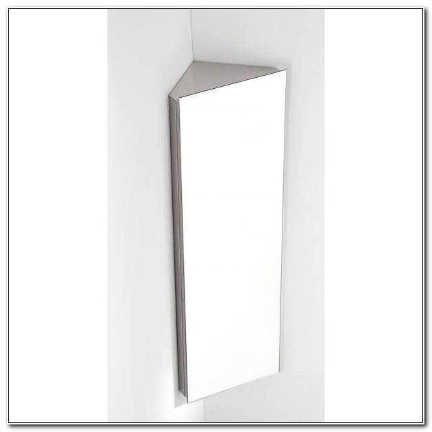 Bathroom Corner Wall Mirror Cabinet