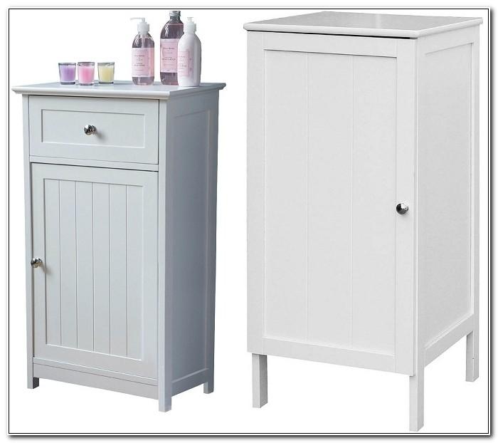Bathroom Floor Storage Cabinet White