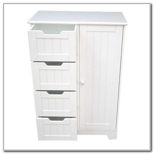 Bathroom Floor Storage Cabinets White