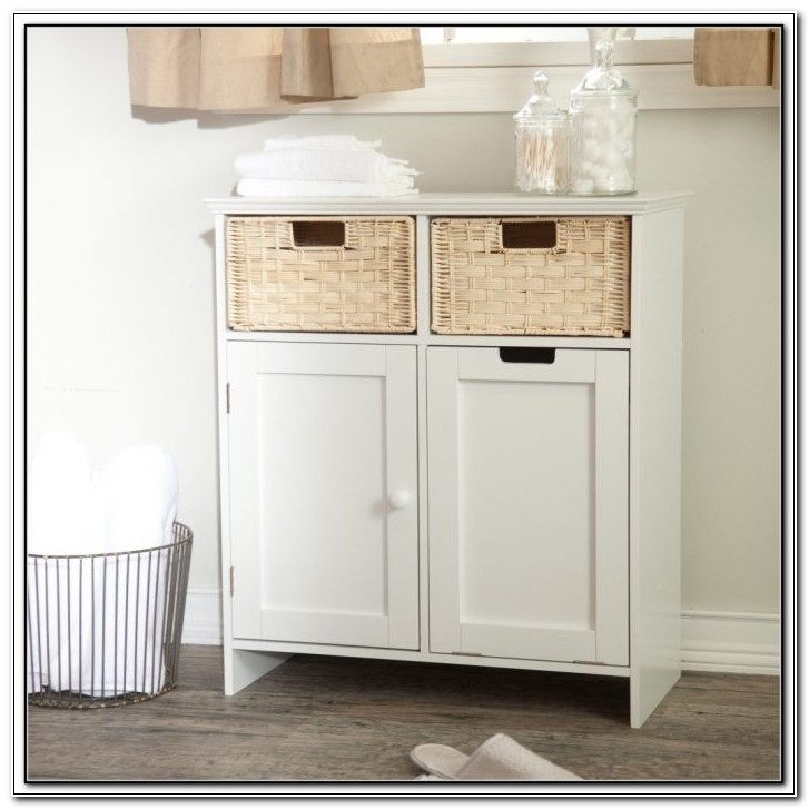 Bathroom Floor Toiletry Storage Cabinet