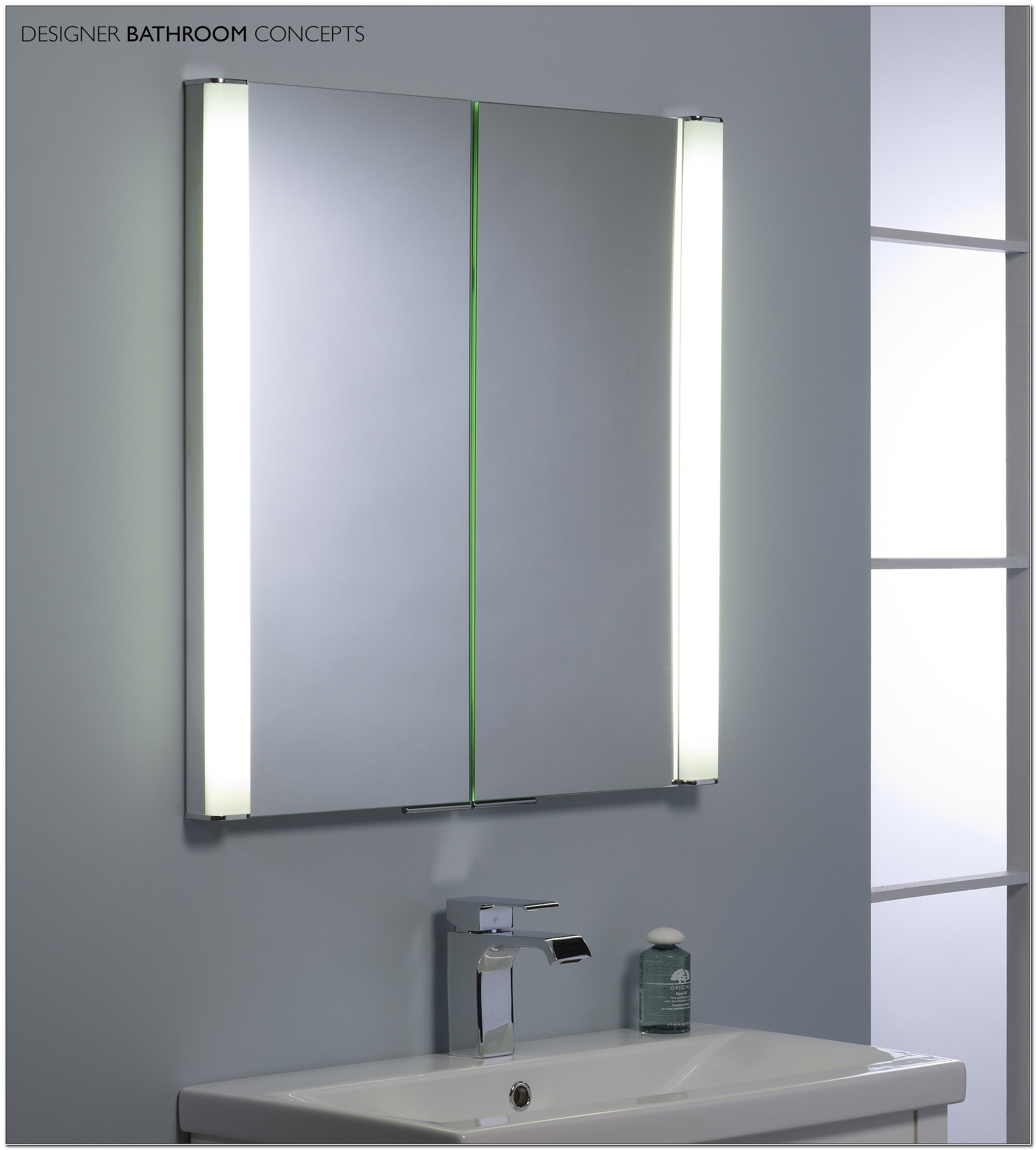Bathroom Mirror Cabinets With Battery Operated Lights