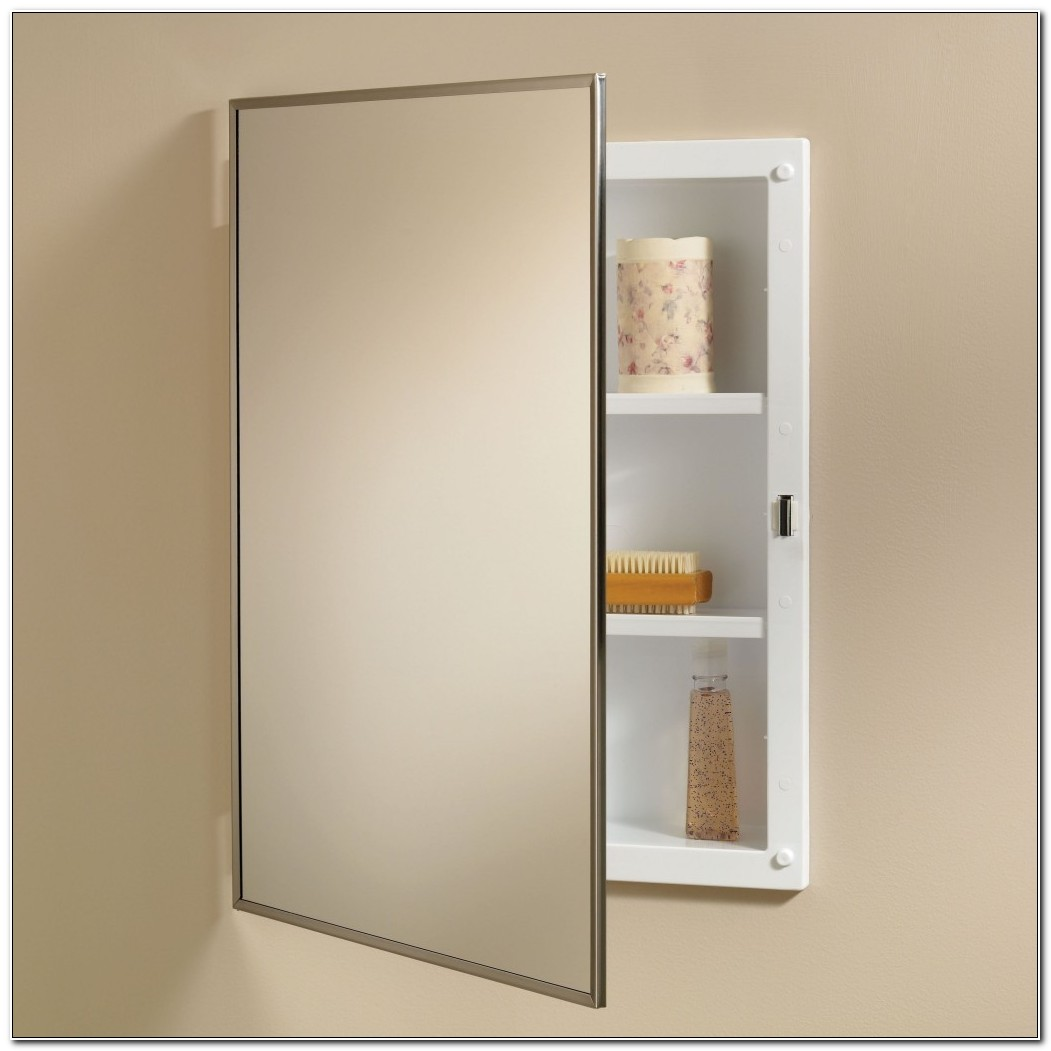 Bathroom Mirror Medicine Cabinet Recessed
