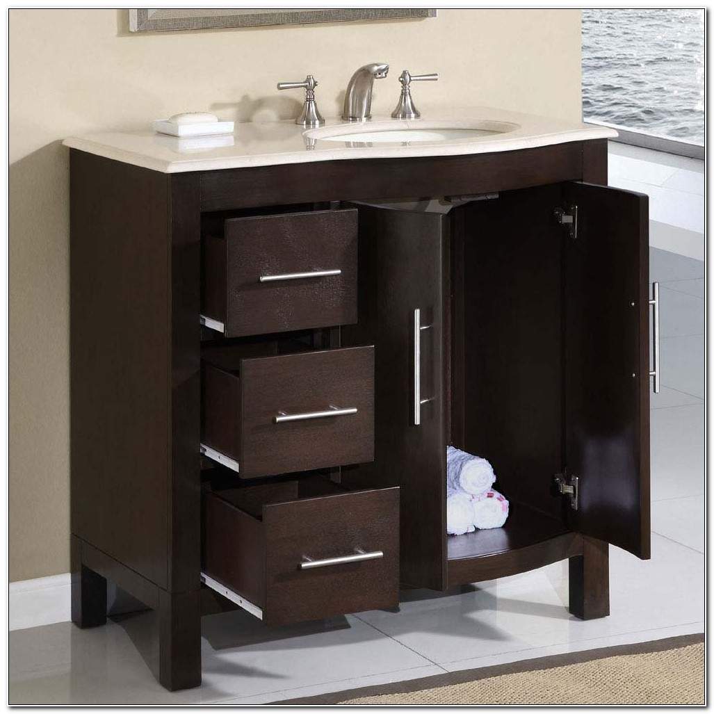 Bathroom Single Sink Vanity Cabinet