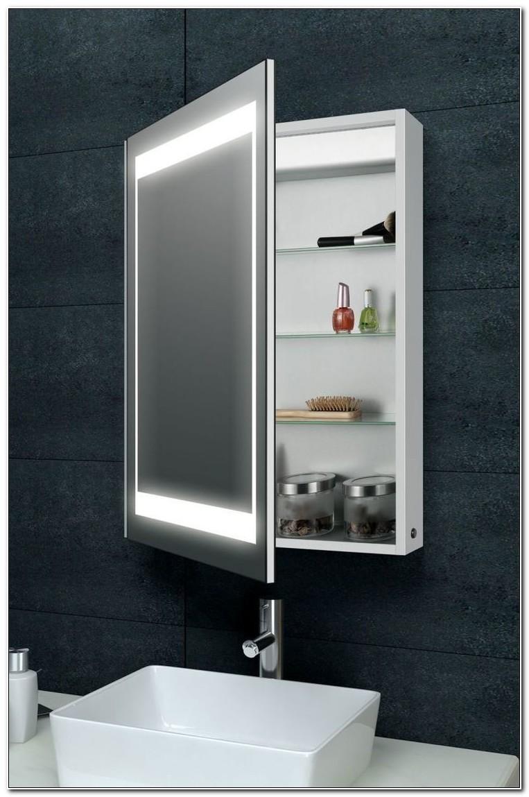 Bathroom Storage Mirrored Cabinet