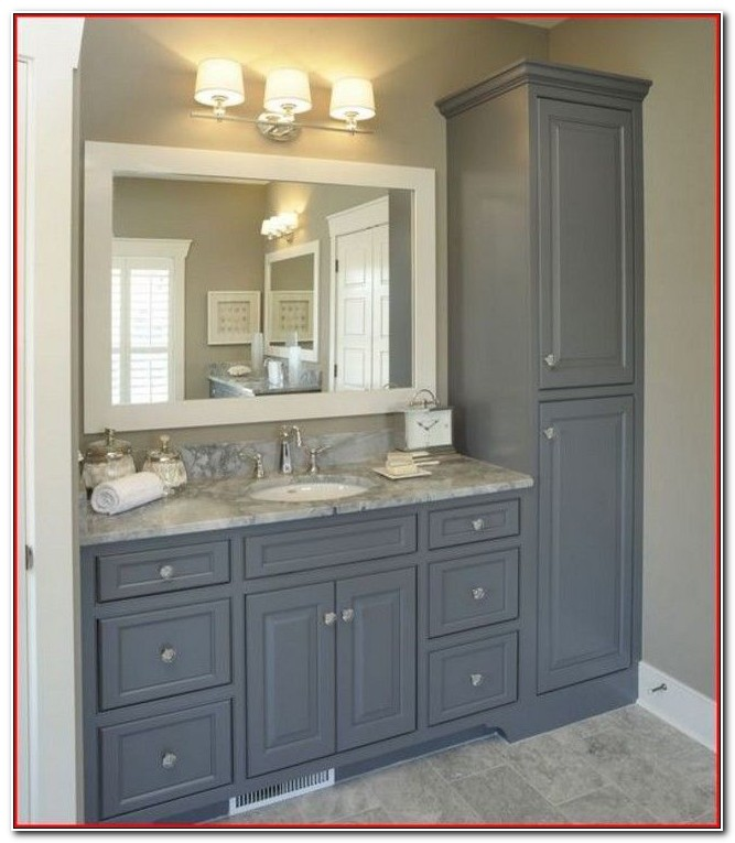 Bathroom Vanity And Linen Cabinet Sets