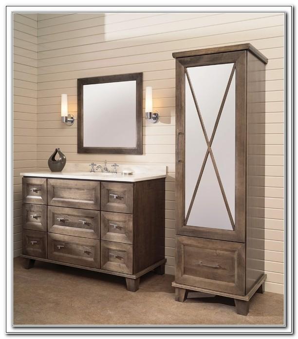 Bathroom Vanity With Matching Linen Cabinet