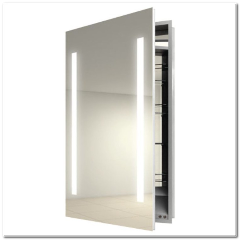 Beveled Mirror Medicine Cabinet With Lights