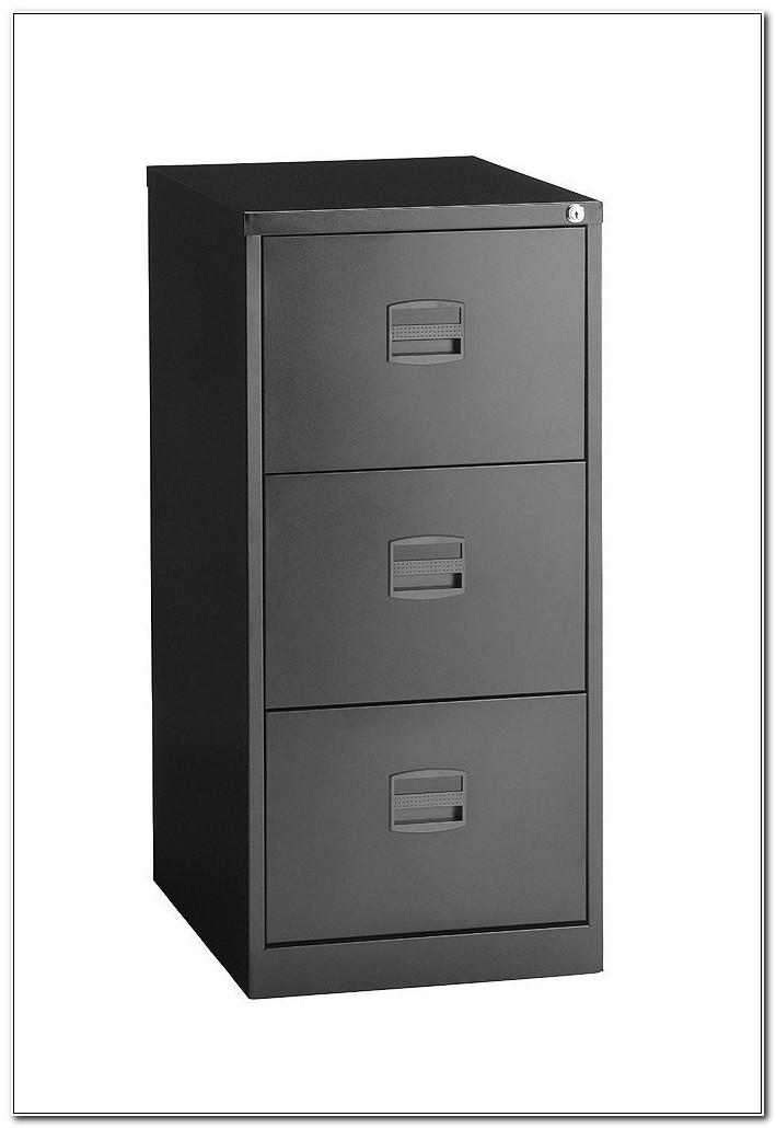 Bisley 3 Drawer Foolscap Filing Cabinet Black