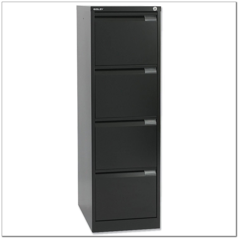 Bisley 4 Drawer Filing Cabinet Black