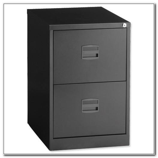 Bisley Black 2 Drawer Filing Cabinet