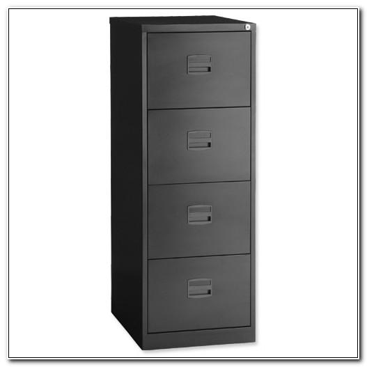 Bisley Black 4 Drawer Filing Cabinet