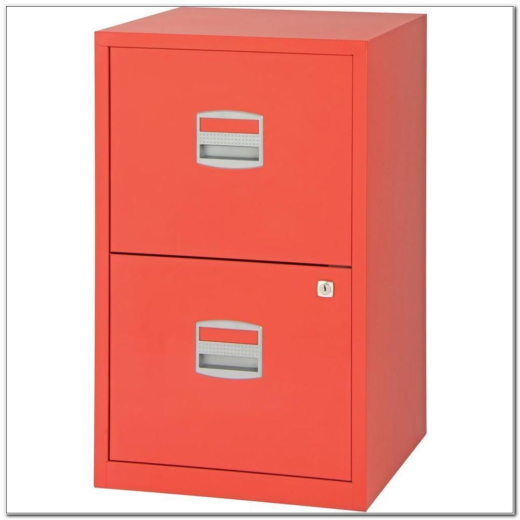 Bisley Filing Cabinet 2 Drawer Red