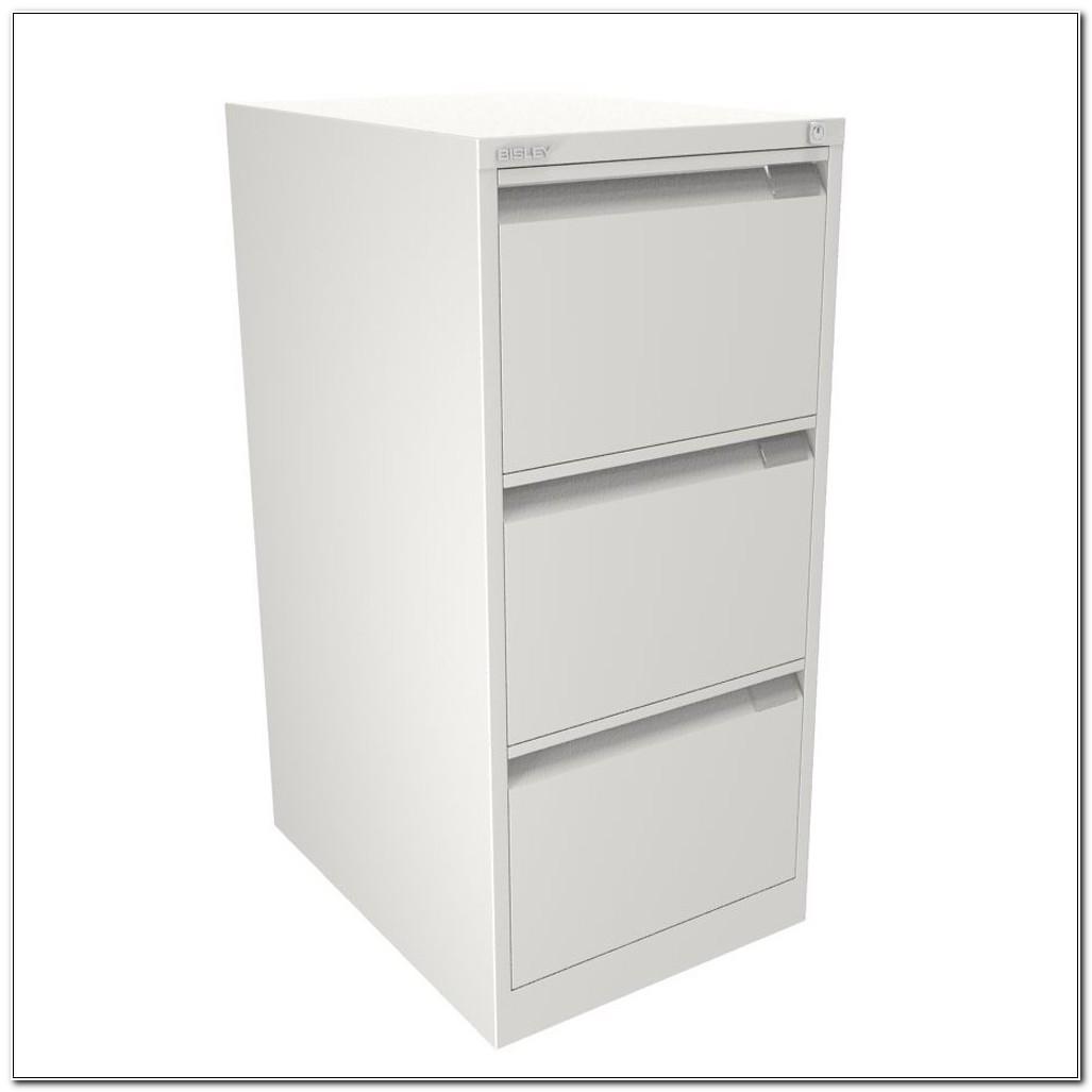 Bisley Filing Cabinet 3 Drawer White