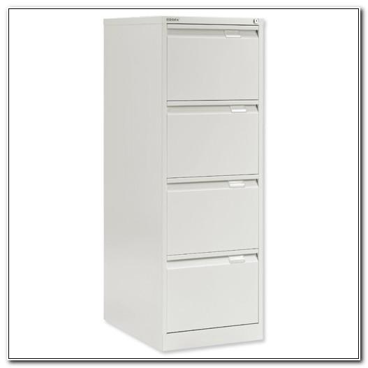 Bisley White 4 Drawer Filing Cabinet