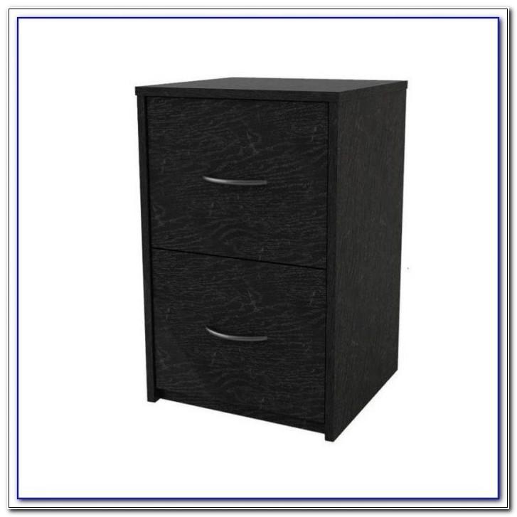 Black Ash 2 Drawer Filing Cabinet