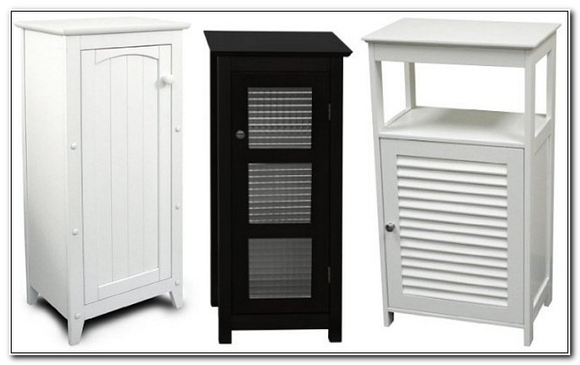 Black Bathroom Floor Cabinet