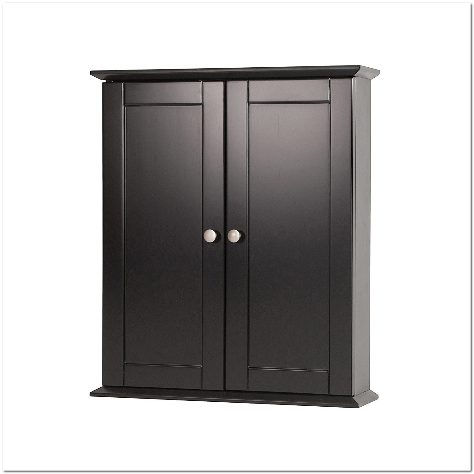 Black Bathroom Wall Cabinet