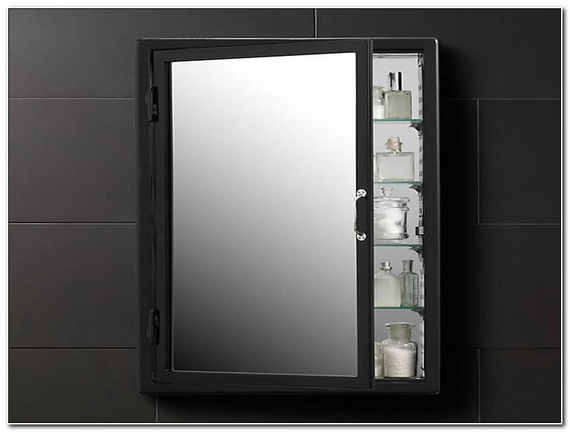 Black Bathroom Wall Cabinets With Mirror