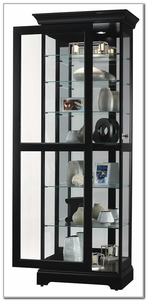 Black Curio Cabinet With Glass Doors