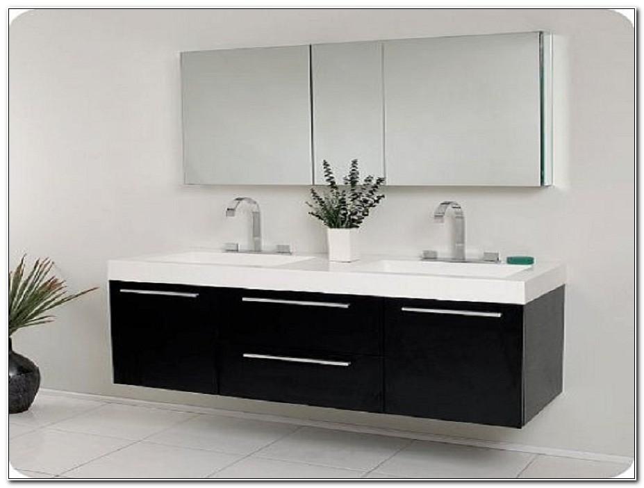 Black Double Sink Vanity Cabinet