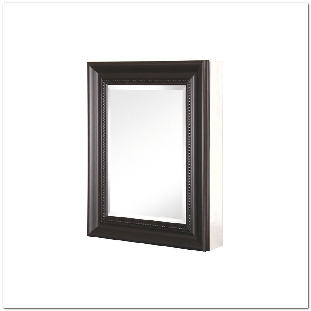 Black Framed Recessed Medicine Cabinet