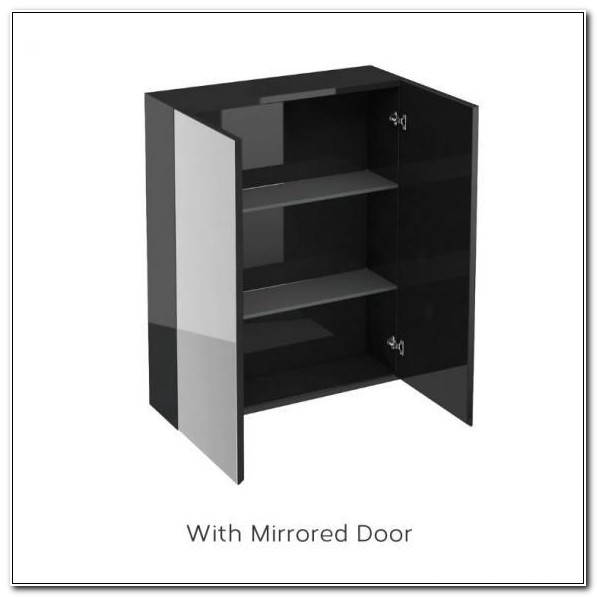 Black Gloss Bathroom Wall Cabinets