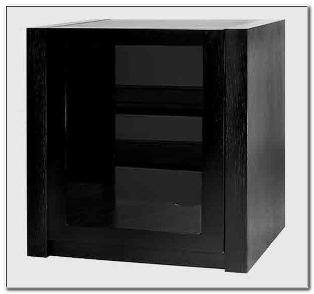 Black Hi Fi Cabinets With Glass Doors