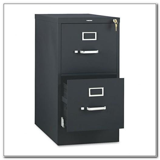 Black Metal Filing Cabinet