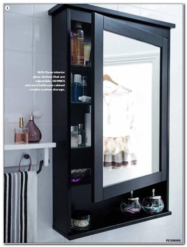Black Mirrored Bathroom Cabinet