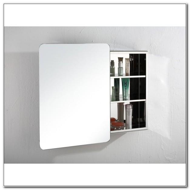 Black Mirrored Bathroom Wall Cabinet