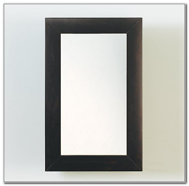 Black Recessed Medicine Cabinet Mirror