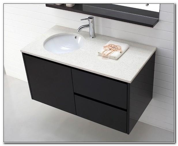 Black Wall Hung Bathroom Cabinets