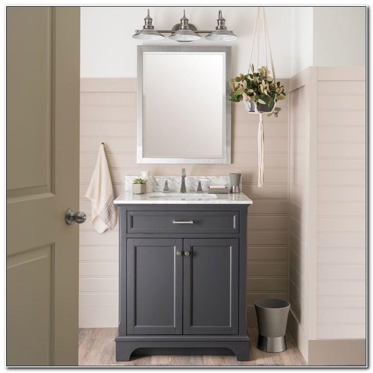 Brushed Nickel Bathroom Cabinet