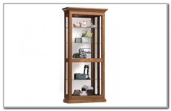 Buhler Oak Corner Curio Cabinet