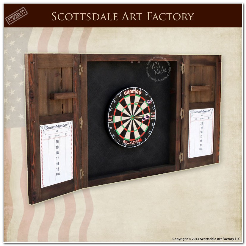 Build Your Own Dartboard Cabinet Plans