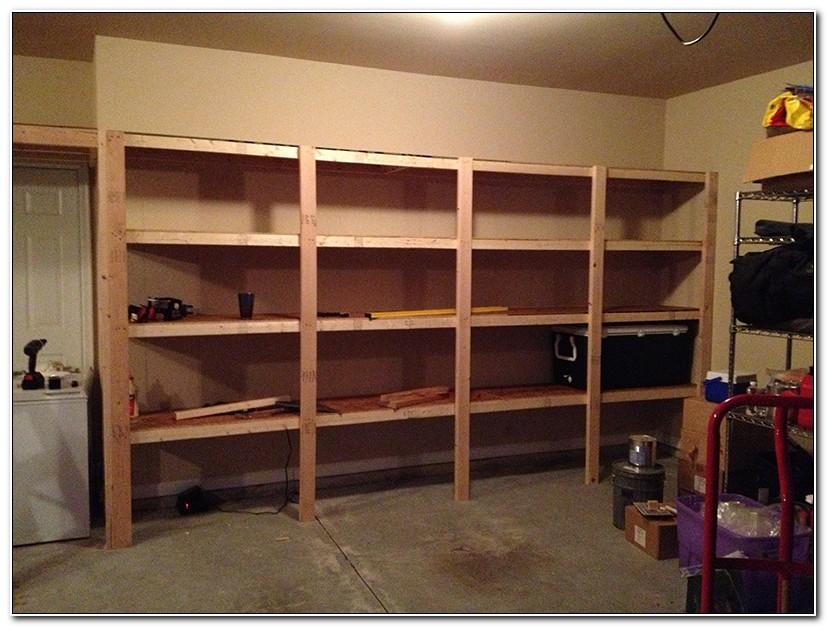 Build Your Own Garage Shelves