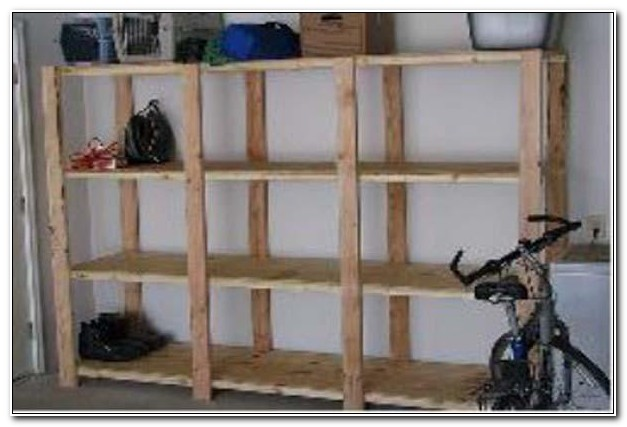 Build Your Own Garage Wooden Shelves