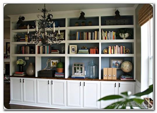 Built In Bookshelves With Cabinet Below