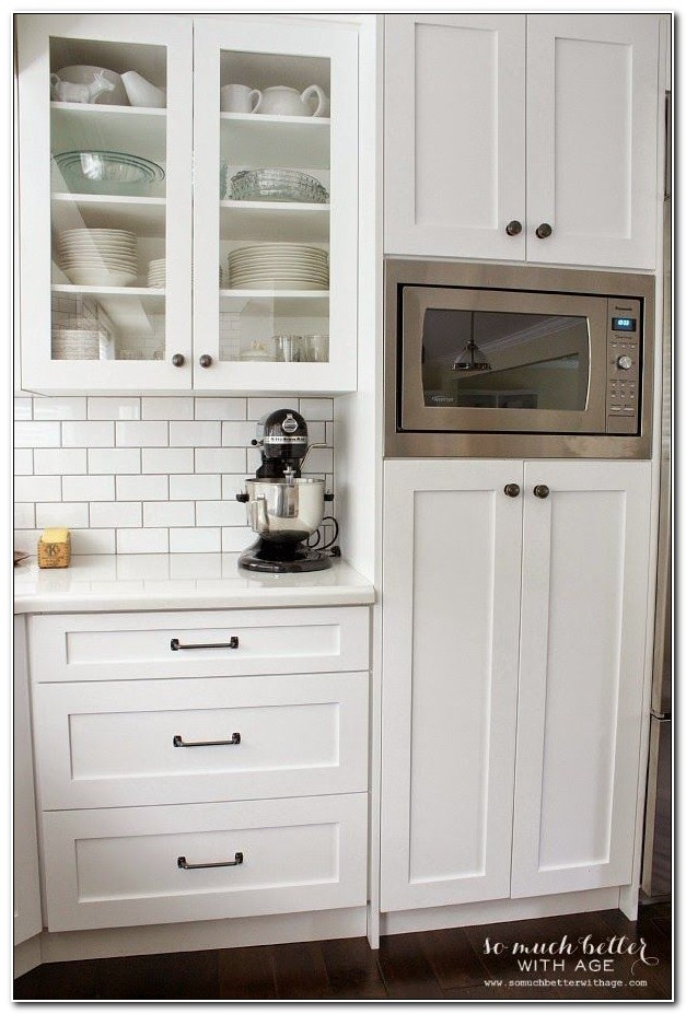 Built In Microwave Cabinet Ideas