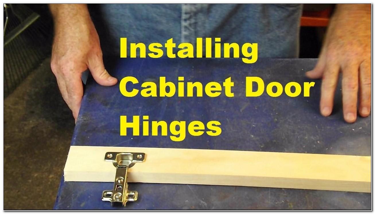 Cabinet Door Hidden Hinges Installation