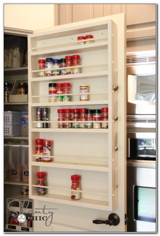 Cabinet Door Spice Rack Plans