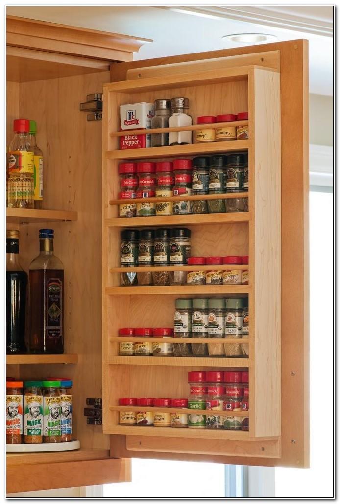 Cabinet Door Spice Rack Wood
