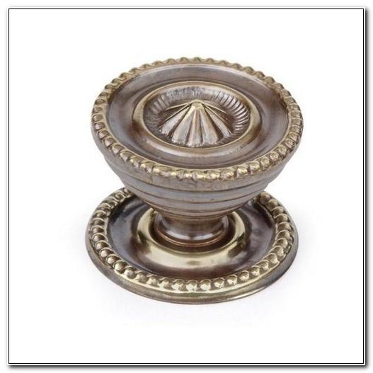 Cabinet Knob Backplate Antique Brass