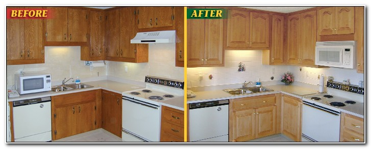 Cabinet Refacing Before And After Pictures