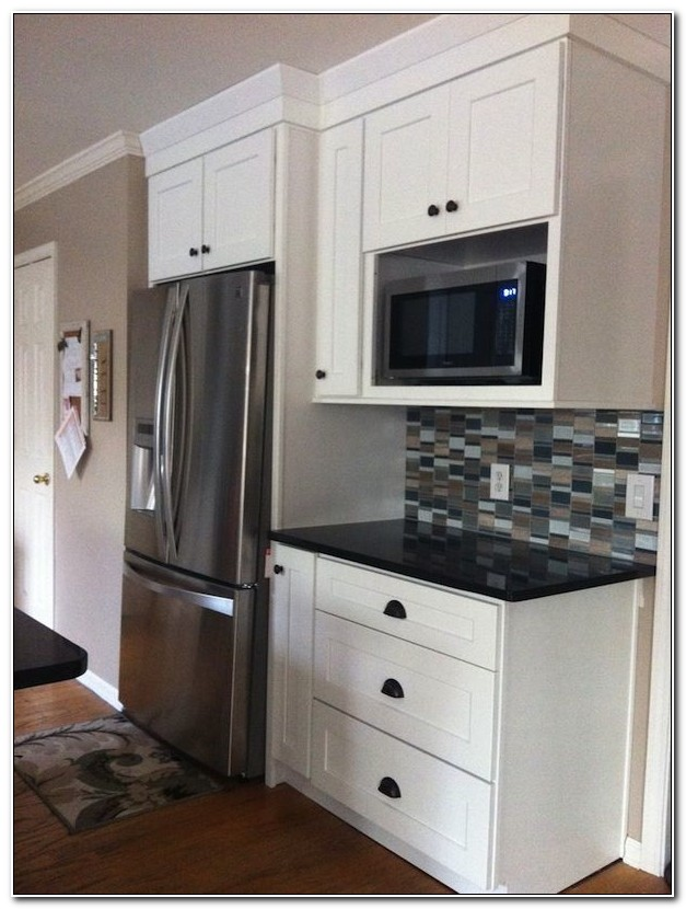 Cabinet With Microwave Shelf