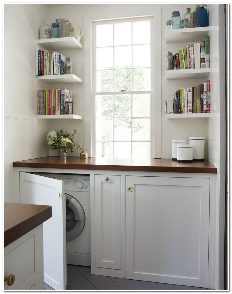 Cabinets To Hide Washer And Dryer