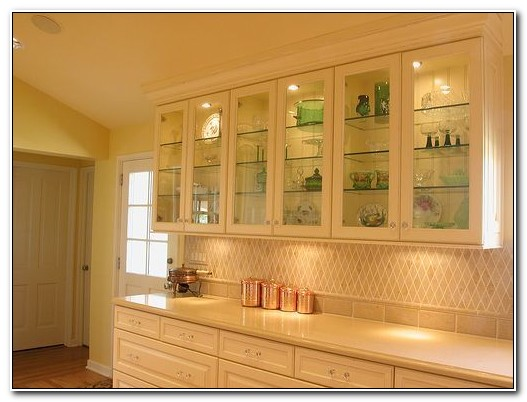 Cabinets With Glass Doors And Lights