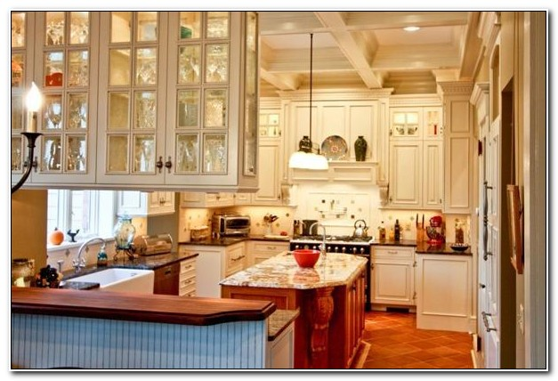 Cabinets With Glass Doors On Both Sides
