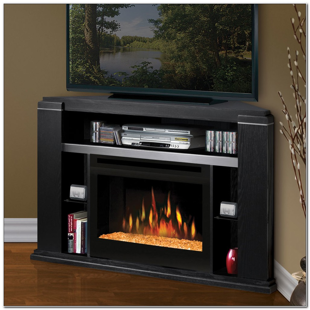 Camden Electric Fireplace Media Cabinet In Black