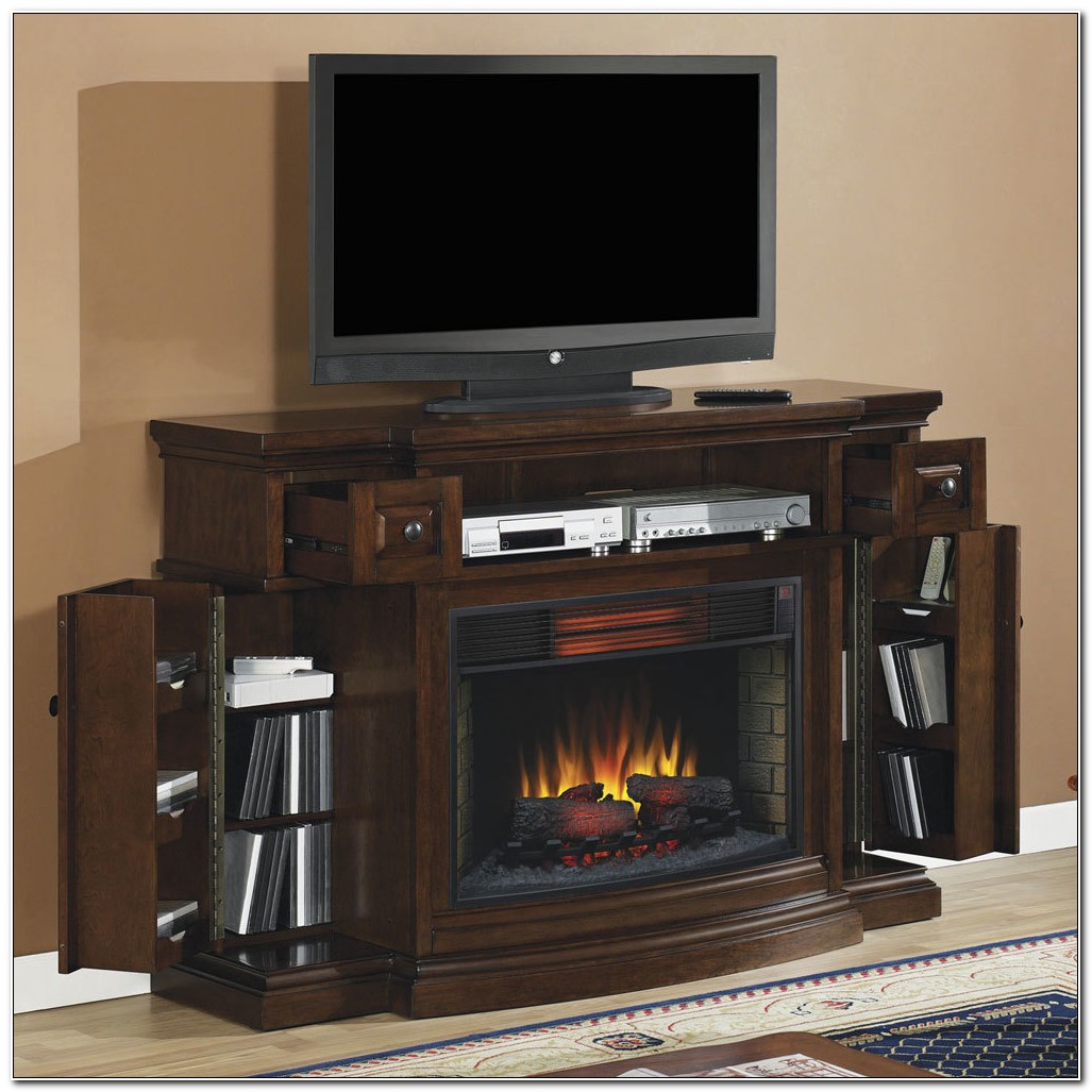 Camden Electric Fireplace Media Cabinet
